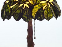 Tiffany Chestnut Sculptured Lamp